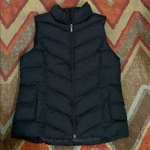 Lands end black puffer vest size 6/8 small